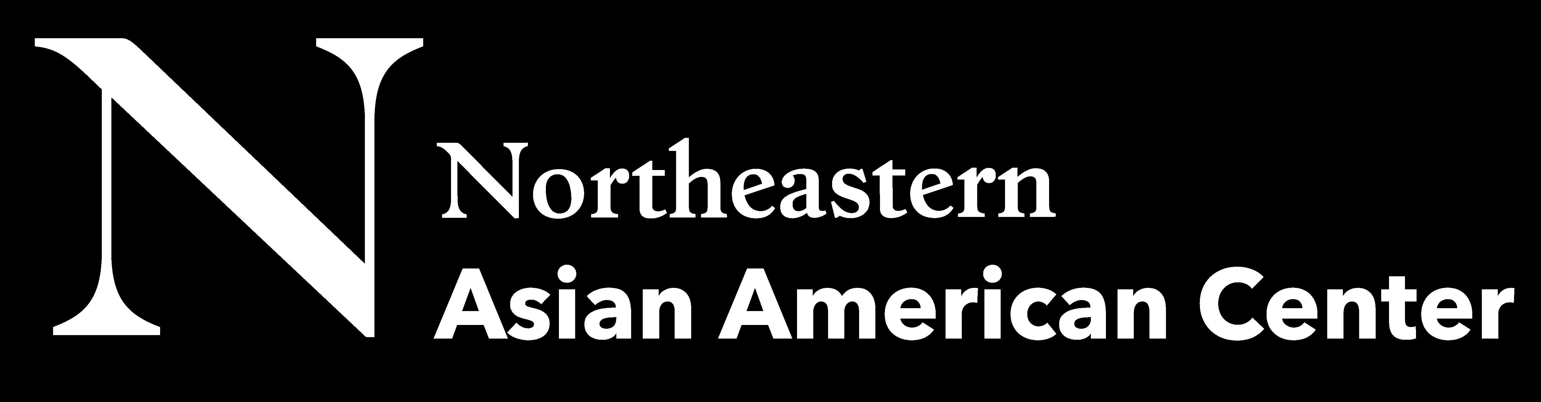 Northeastern Asian American Center White Logo